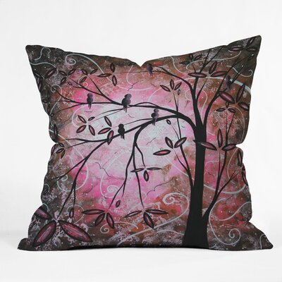 DENY Designs Madart Inc  Blossoms Indoor / Outdoor Polyester Throw Pillow