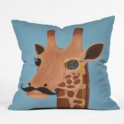 DENY Designs Mandy Hazell Gentleman Giraffe Throw Pillow