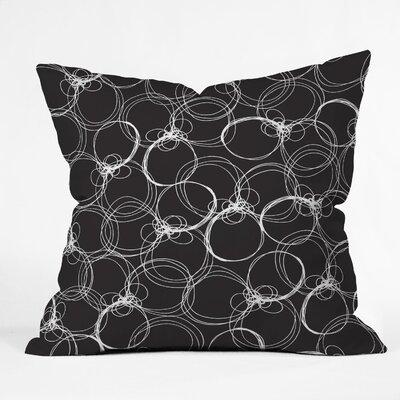 DENY Designs Rachael Taylor Circles Indoor / Outdoor Polyester Throw Pillow