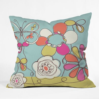 DENY Designs Rachael Taylor Fun Floral Indoor / Outdoor Polyester Throw Pillow