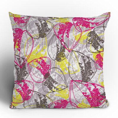 DENY Designs Rachael Taylor Organic Retro Leaves Woven Polyester Throw Pillow
