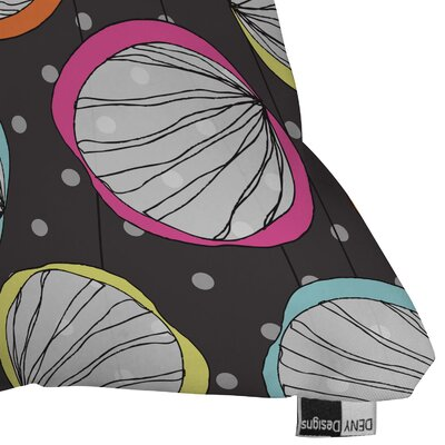 DENY Designs Rachael Taylor Scribble Shells Indoor / Outdoor Polyester Throw Pillow