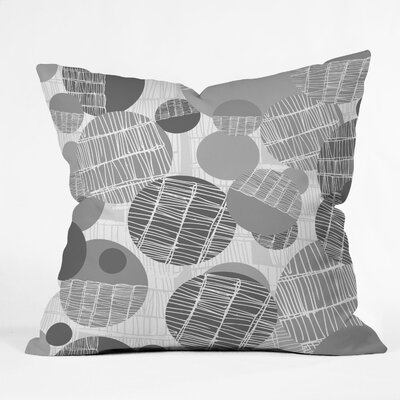 DENY Designs Rachael Taylor Textured Geo Indoor/Outdoor Polyester Throw Pillow
