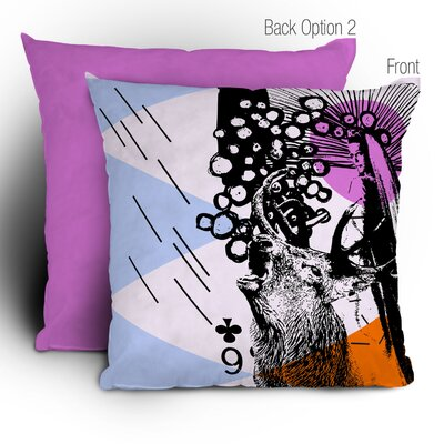 DENY Designs Randi Antonsen Poster Hero 3 Polyester Throw Pillow