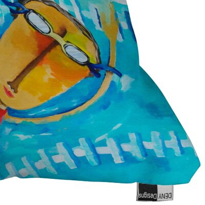 DENY Designs Robin Faye Gates Swimming Is Hard Polyester Throw Pillow