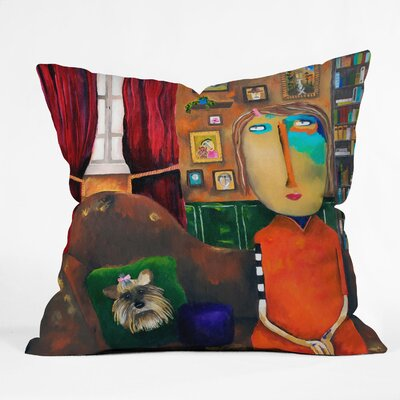 DENY Designs Robin Faye Gates Polyester with Bebe Indoor / Outdoor Throw Pillow