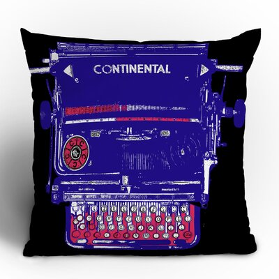 DENY Designs Romi Vega Continental Typewriter Throw Pillow