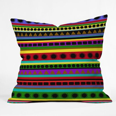 DENY Designs Romi Vega Heavy Pattern Indoor/Outdoor Polyester Throw Pillow