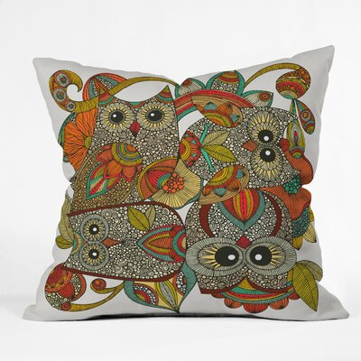 DENY Designs Valentina Ramos 4 Owls Indoor/Outdoor Polyester Throw Pillow