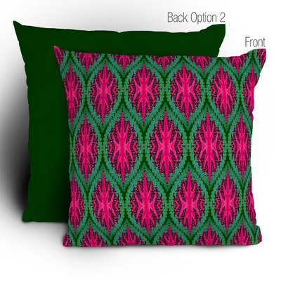 Wagner Campelo Ikat Leaves Polyester Throw Pillow