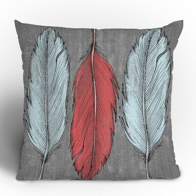 DENY Designs Wesley Bird Feathered Throw Pillow