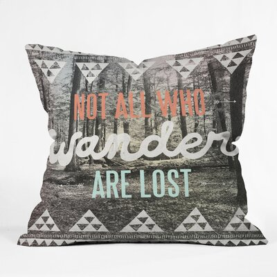 DENY Designs Wesley Bird Wander Polyester Throw Pillow