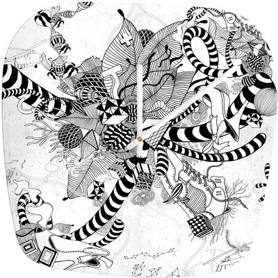 DENY Designs Iveta Abolina Black And White Play Modern Clock