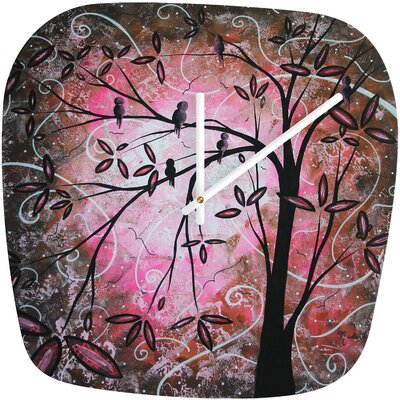 DENY Designs Madart Inc. Cherry Blossoms Clock