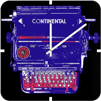 DENY Designs Romi Vega Continental Typewriter Custom Clock