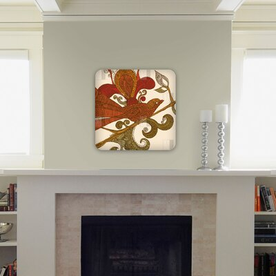 DENY Designs Valentina Ramos The Orange Bird Wall Art