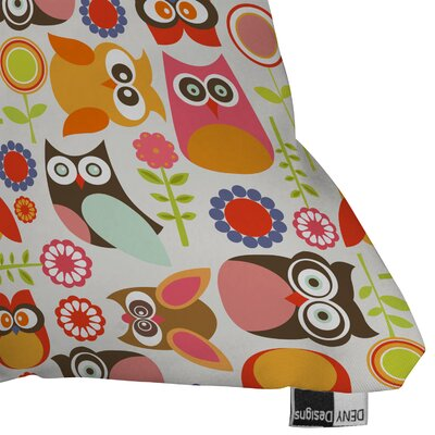 DENY Designs Valentina Ramos Cute Little Owls Indoor/Outdoor Polyester Throw Pillow
