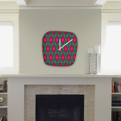 DENY Designs Wagner Campelo Ikat Leaves Modern Clock