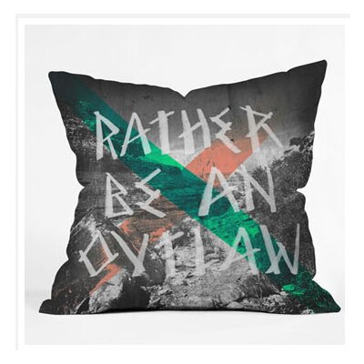 DENY Designs Wesley Bird Rather Be An Outlaw Throw Pillow