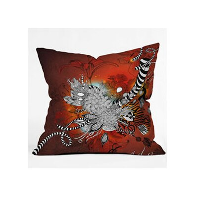 DENY Designs Iveta Abolina Wild Lilly Woven Polyester Throw Pillow