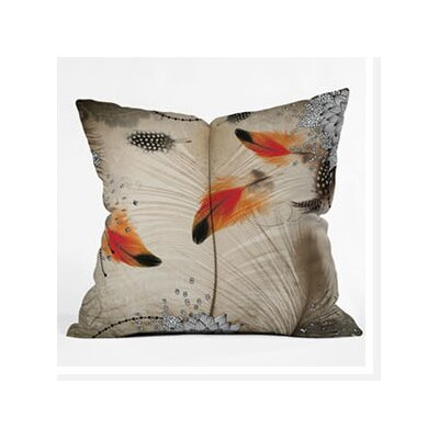 DENY Designs Iveta Abolina Feather Dance Woven Polyester Throw Pillow