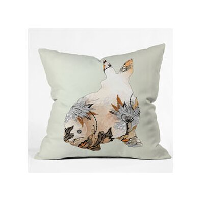 DENY Designs Iveta Abolina Little Rabbit Woven Polyester Throw Pillow