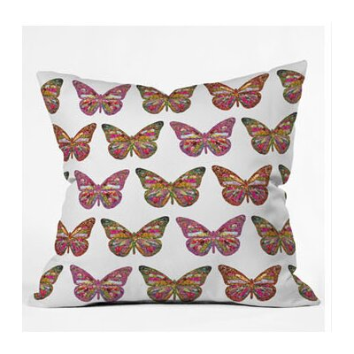 DENY Designs Bianca Green Butterflies Fly Throw Pillow