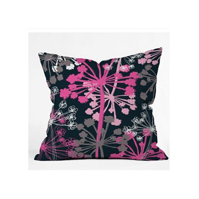 DENY Designs Rachael Taylor Cow Parsley Woven Polyester Throw Pillow