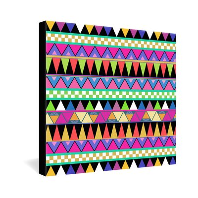 DENY Designs Bianca Green Zigzag Gallery Wrapped Canvas