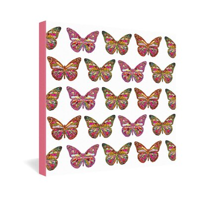 DENY Designs Bianca Green Butterflies Fly Gallery Wrapped Canvas