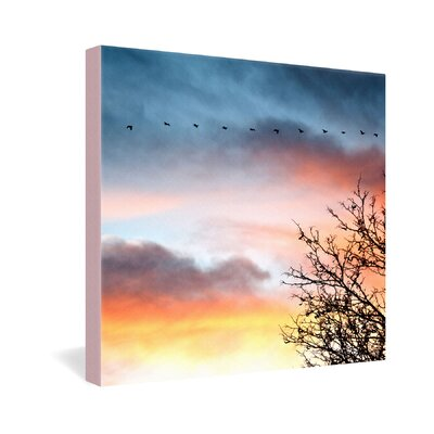 DENY Designs Bird Wanna Whistle Bird Line Gallery Wrapped Canvas