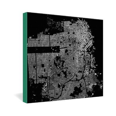 DENY Designs San Francisco by CityFabric Inc Graphic Art on Canvas