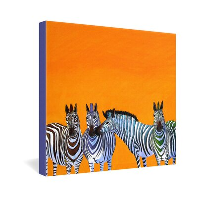 DENY Designs Clara Nilles Candy Stripe Zebras Gallery Wrapped Canvas