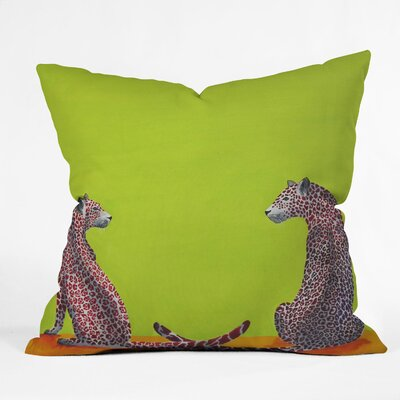 DENY Designs Clara Nilles Leopard Lovers Indoor / Outdoor Polyester Throw Pillow