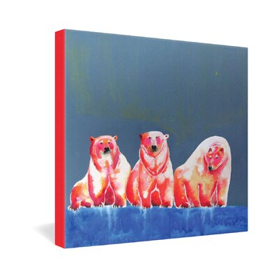 DENY Designs Polarbear Blush by Clara Nilles Painting Print on Canvas