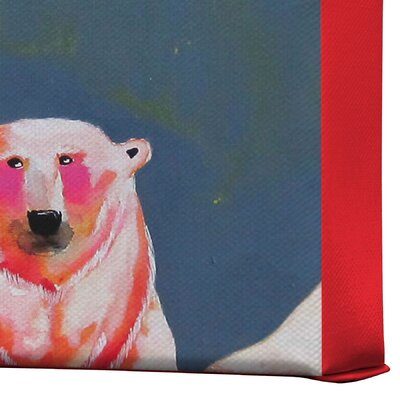 DENY Designs Clara Nilles Polarbear Blush Gallery Wrapped Canvas