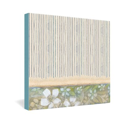 DENY Designs Cori Dantini Blue and White Stripes Gallery Wrapped Canvas