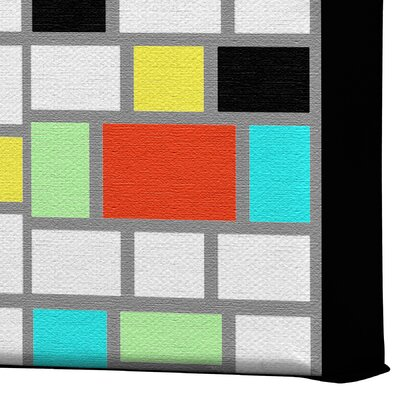 DENY Designs Geo Square by Jacqueline Maldonado Graphic Art on Canvas