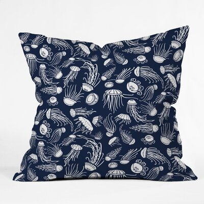 DENY Designs Jennifer Denty Jellyfish Indoor / Outdoor Polyester Throw Pillow