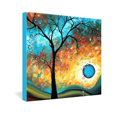 DENY Designs Madart Inc Aqua Burn Gallery Wrapped Canvas