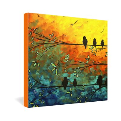 DENY Designs Birds of a Feather by Madart Inc Graphic Art on Canvas