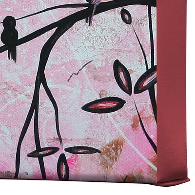 DENY Designs Cherry Blossoms by Madart Inc Graphic Art on Canvas