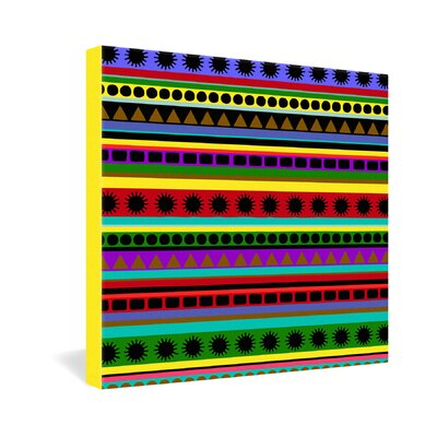 DENY Designs Romi Vega Heavy Pattern Gallery Wrapped Canvas