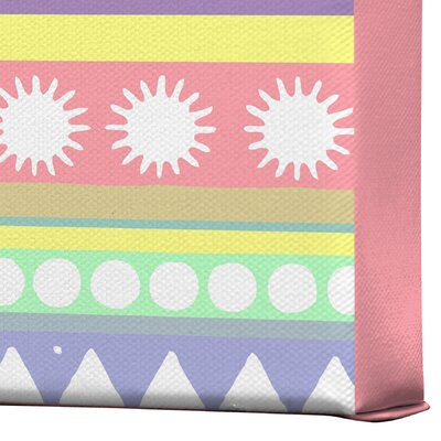 DENY Designs Pastel Pattern by Romi Vega Graphic Art on Canvas