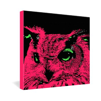 DENY Designs Romi Vega Pink Owl Gallery Wrapped Canvas