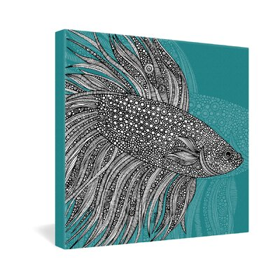 DENY Designs Beta Fish by Valentina Ramos Graphic Art on Canvas
