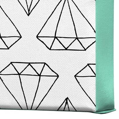DENY Designs Diamond Print 2 by Wesley Bird Graphic Art on Canvas