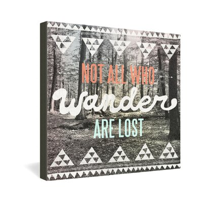 DENY Designs Wander by Wesley Bird Graphic Art on Canvas