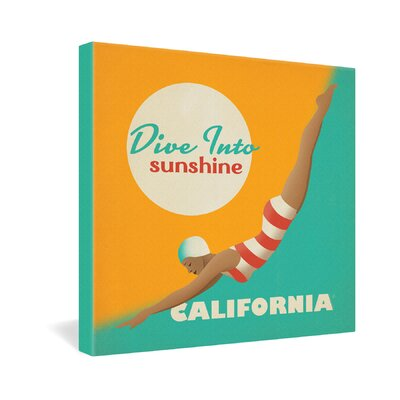 DENY Designs Dive California by Anderson Design Group Vintage Advertisement on Canvas