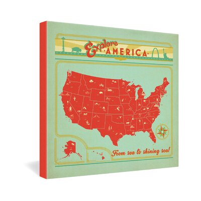 DENY Designs Explore America by Anderson Design Group Vintage Advertisement on Canvas